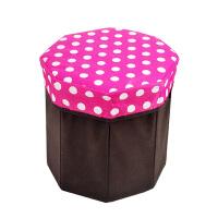 卡秀收纳-圆点八角储物凳/折叠收纳凳 颜色*