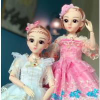 大号仿真洋娃娃公主玩具萌宝芭比套装单个60厘米大礼盒女孩礼物