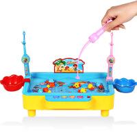 【限时抢】电动磁性钓鱼玩具3-6岁小猫钓鱼小孩玩具带音乐灯光益智儿童玩具