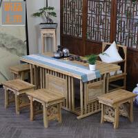 中式茶桌椅组合实木茶几茶道桌子泡茶桌茶艺桌功夫茶桌茶台桌定制 整装