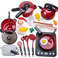 儿童过家家厨房玩具套装煮饭锅男孩女童做饭仿真厨具全