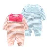 宝宝婴儿连体衣1岁6个月季新生儿睡衣休闲长袖哈衣爬爬服款