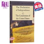 【中商原版】独立宣言与美国宪法 英文原版 The Declaration of Independence & The