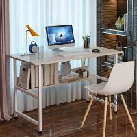 桌子简约经济型卧室学生简易电脑桌台式小户型家用书桌多功能W 长120宽48高72 白枫