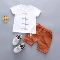 男童唐装帅宝宝中国风夏装0婴儿夏天衣服小童1汉服2短袖套装3岁潮