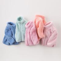 【加厚】davebella戴维贝拉男女童冬季毛绒宝宝保暖外套DB4677