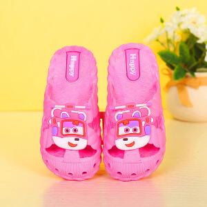 儿童凉鞋 男女童夏季韩版新款小飞侠卡通洞洞鞋时尚休闲舒适中小童款式鞋子