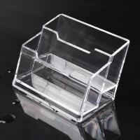 金隆兴创意商务名片座桌面多层名片盒亚克力名片盒透明名片架