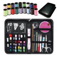 针线包 针线套装组合多功能工具黑色户外旅行便携针线盒包