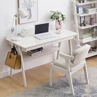 实木书桌简约家用卧室办公桌子北欧学生台式电脑桌日式写字学习台
