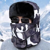 时尚帽子男士韩版保暖棉帽户外防寒雷锋帽东北加厚加绒女冬季骑车防风