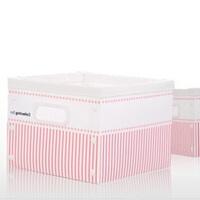 时尚条纹系列可擦洗衣物收纳箱 塑料整理箱 家用儿童玩具收纳箱衣服