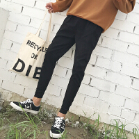 les帅t小码男矮小个子XS小脚裤子潮流运动裤修身裤韩版加绒休闲裤