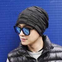 男士帽子韩版潮人百塔黑色毛线帽保暖针织加绒防寒包头帽青年