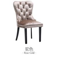 【12.12京选返场】椅子欧式餐椅美式实木布艺软包 书房客厅酒店椅咖啡厅椅子轻奢欧式