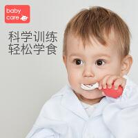 babycare宝宝叉勺学吃饭 短柄训练勺婴儿PPSU儿童餐具辅食勺套装