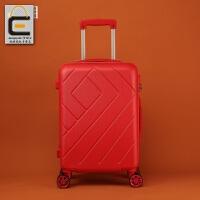 大红色结婚箱子行李箱皮箱拉杆箱女万向轮新娘婚庆陪嫁箱子嫁妆箱 红色