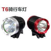 LED户外自行车灯前灯 USB充电山地车灯 T6自行车灯 骑行装备