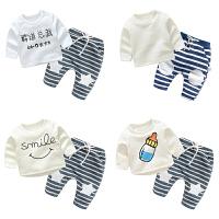 蓓莱乐婴儿衣服装0岁6个月2宝宝7新生儿休闲潮款两件套装季冬装