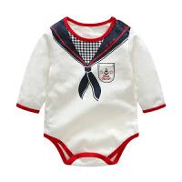 婴儿连体衣服宝宝新生儿季爬爬服00岁9月睡衣短三角哈衣