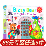 顺丰发货 Bizzy Bear 小熊很忙:骑士城堡 儿童机关抽拉玩具纸板书 纸板活动操作书 幼儿英语早教英文原版书