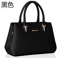 真皮女包软皮大容量手提包大气斜挎包潮时尚中年妈妈包包2018新款 黑色 还剩6个