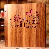 创意木质diy相册手工情侣浪漫影集相册本纪念册拍立得情人节礼物