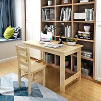 实木书桌简约家用学生电脑桌台式桌松木写字台学习桌卧室办公桌子