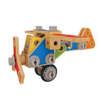 Hape百变木匠工具大套3-6岁宝宝螺母拆装组装套婴幼玩具过家家玩具E3081