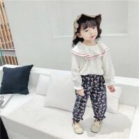 女童娃娃领白色打底衬衫女宝宝长袖衬衣女孩洋气韩版春秋1时尚3岁