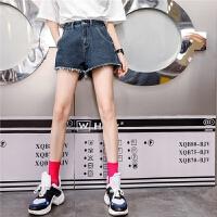 七格格高腰牛仔短裤女夏2018新款韩版宽松学生百搭夏装港味显瘦chic裤子