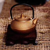 迷你50ML铁壶仿日本铸铁茶壶迷你茶壶掌心壶煮茶器电陶炉茶炉功夫茶具套装煮茶小金壶功夫茶具茶宠铸铁壶