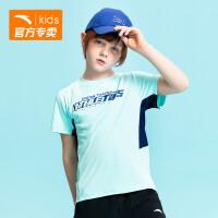 安踏童�b男童�\�佣�T2020夏季新款短袖T恤352025165