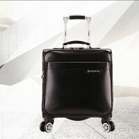 男士拉杆箱商务18寸登机箱万向轮休闲小皮箱女行李旅行箱包密码箱 18寸