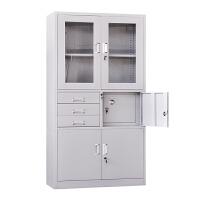 办公家具书柜铁皮文件柜四门家用多层收纳文档案带锁储物凭证柜子