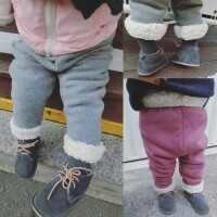 女童长裤 童装冬装运动裤 秋冬婴幼儿儿童女宝宝加厚加绒休闲裤子