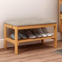实木换鞋凳欧式储物凳式鞋柜现代简约布艺试鞋凳美式沙发凳