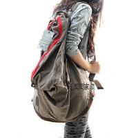 韩版新款复古休闲旅行背包学生书包文艺范帆布包女包潮包双肩大包