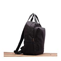 防水尼龙双肩包女包旅行学生收纳包商务书包妈咪包15.6寸电脑背包 黑色小号 装13.3寸电脑