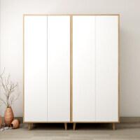 北欧风格衣柜 两门组合衣柜 简约现代经济型平开门定制家具