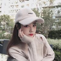 帽子女秋冬季时尚韩版潮百搭甜美可爱少女学生ins加厚s棒球鸭舌帽