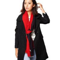 冬季双面长款学生双色欧美两用披肩围巾加厚秋冬女士围巾