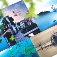 古风明信片唯美中国风 文艺小清新风景盒装卡片 复古手绘创意文具