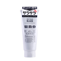 资生堂(Shiseido)洁面男士UNO吾诺黑炭洁面乳130g新老包装随发
