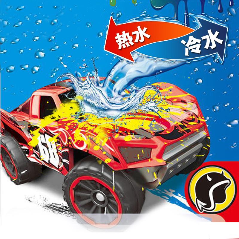 风火轮火辣小跑车变色合金车遇热水变色遇冷变色玩具小汽车模赛车 巴甲努克-红变黄 12号