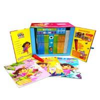 限量正版 爱探险的朵拉书 DVD 点读笔 欢乐美语教学豪华套装