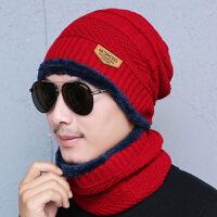 毛线帽子男士中年爸爸冬季加厚保暖棉帽女冬款中老年妈妈防寒防风 可调节