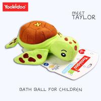 婴儿洗头刷宝宝洗澡棉毛巾料动物儿童搓澡巾洗澡用品沐浴棉浴擦 青绿色海龟