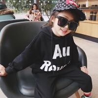 女童卫衣潮 2018春装新款韩版童装长袖连帽上衣 儿童后背拉链卫衣