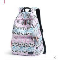 背包女韩版休闲时尚大学生旅行双肩包校园高中学生大容量帆布书包